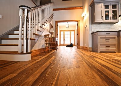 Reclaimed Engineered Pine with Early American Stain
