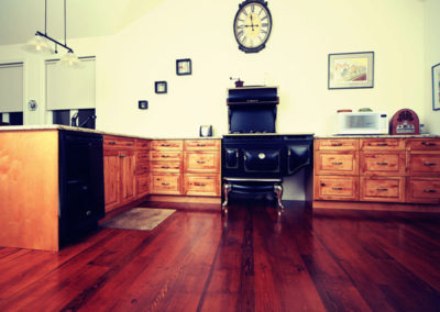 wideplank pine floor for office