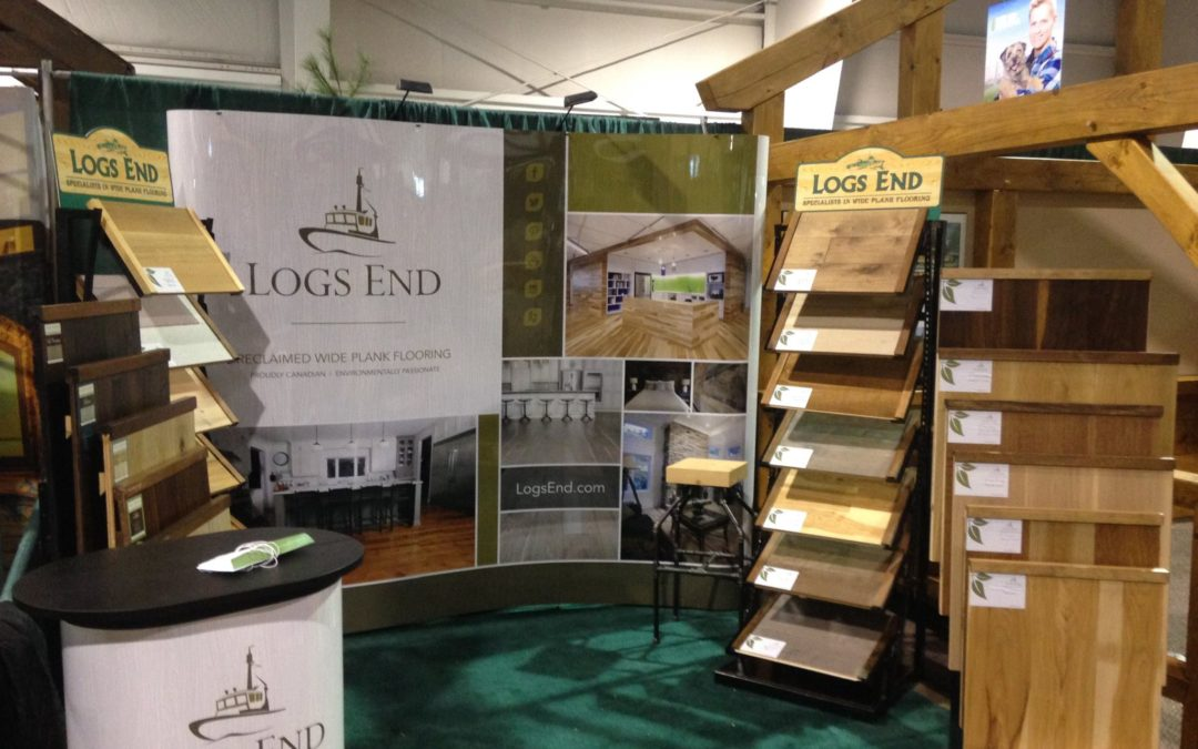 Logs End Booth at the 2016 Fall Cottage Life Show