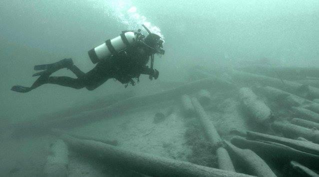 Logs End Ottawa Diving for Lumber