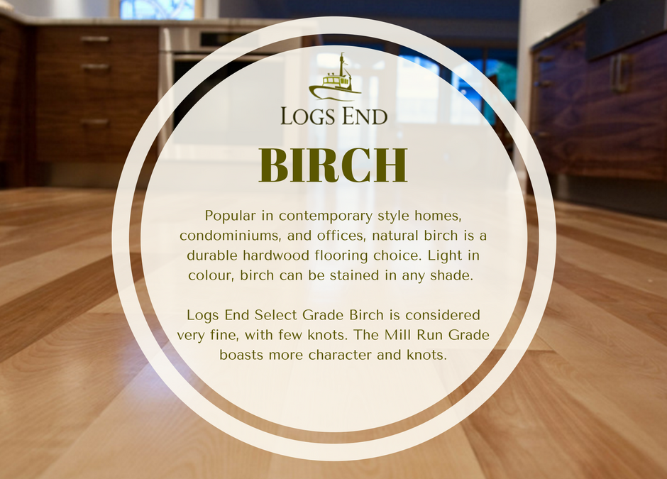 logs end birch hardwood flooring