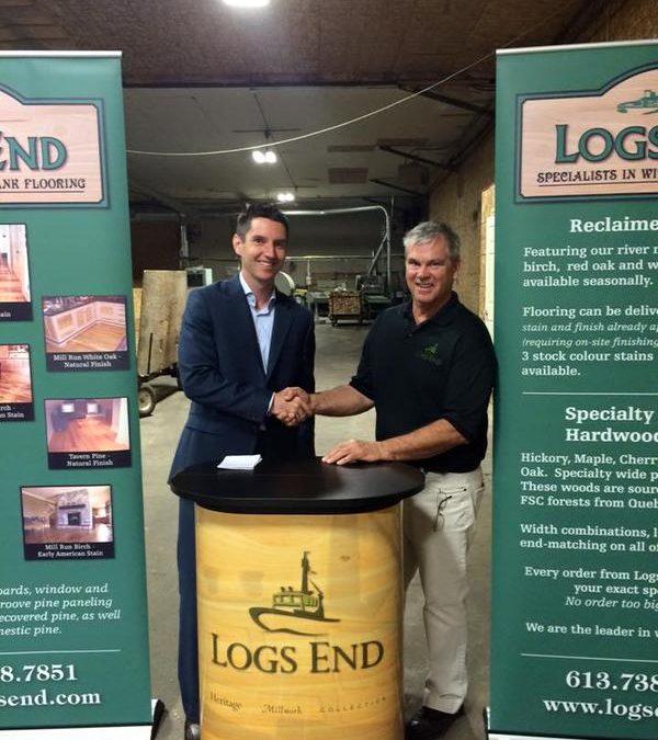 Logs End Receives Grant