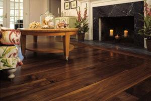 walnut flooring in living room