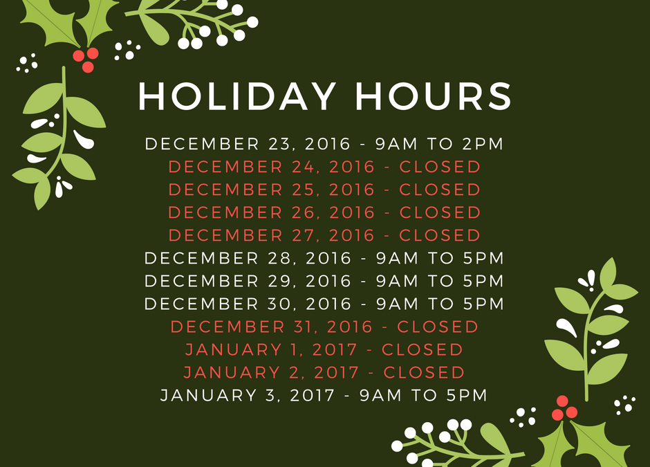 Logs End Holiday Hours