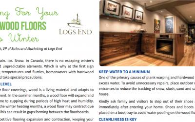 Logs End Shares Hardwood Flooring Care Tips in Ottawa Magazine