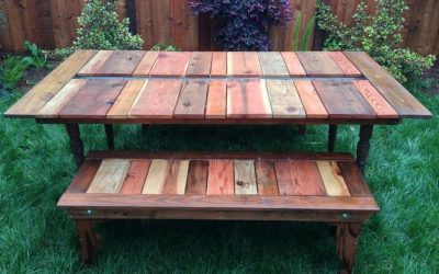 Reclaimed Wood Picnic Table