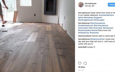 Harrop House Renovation Showcases Logs End Flooring