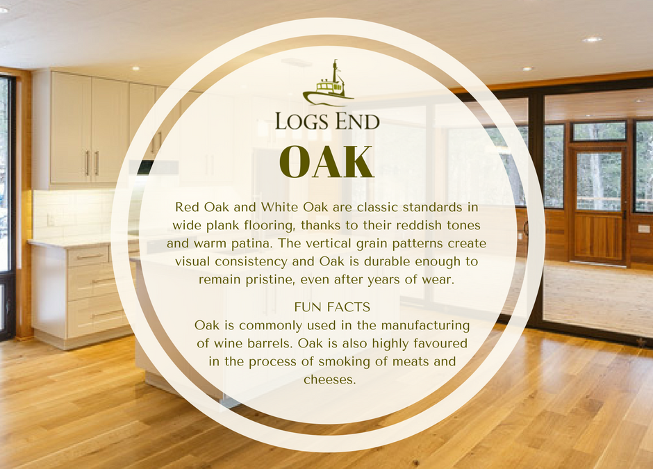 Logs End Oak Hardwood Flooring
