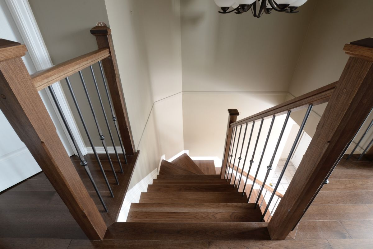 Logs End Hickory Floors With Micel Flooring Custom Stairs