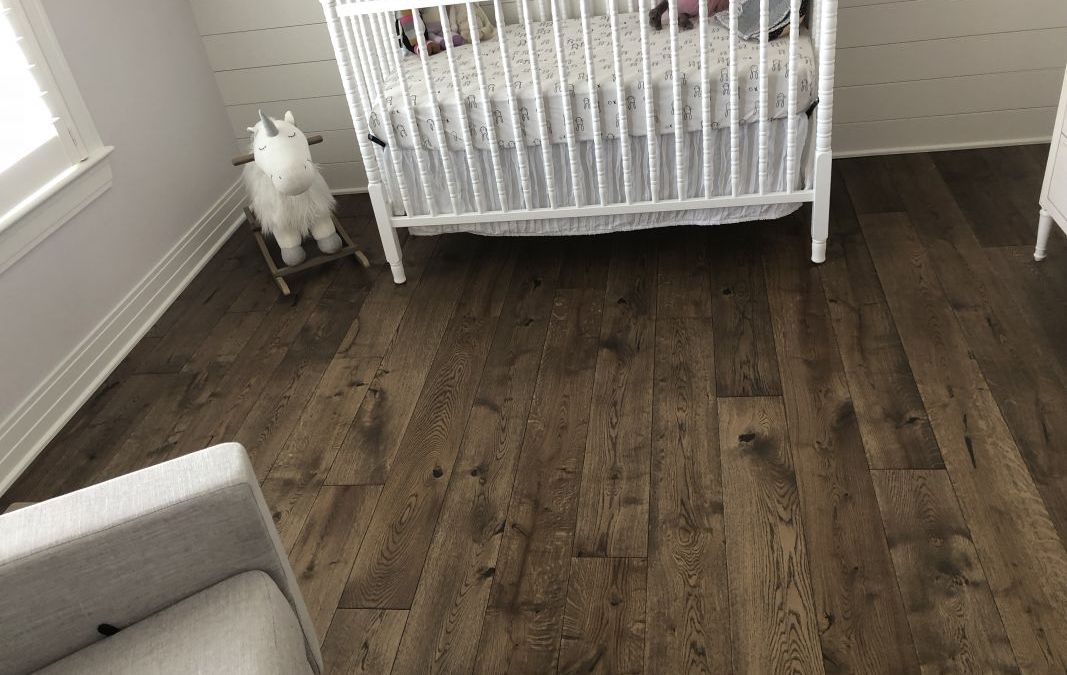 Baby Nursery Features Logs End Pre-Oiled French Cut Oak