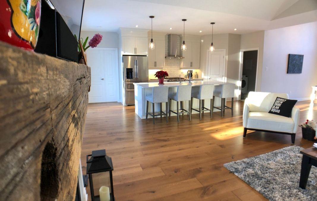 Carleton Place Homeowners Choose Logs End French Cut Oak