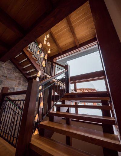 quartersawn white oak staircase