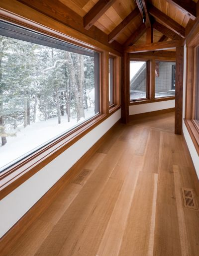 hardwood flooring white oak hallway