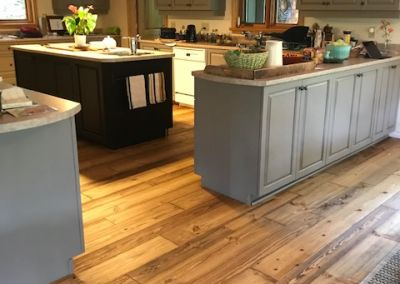 Logs End Engineered River Reclaimed Pine in Bryson