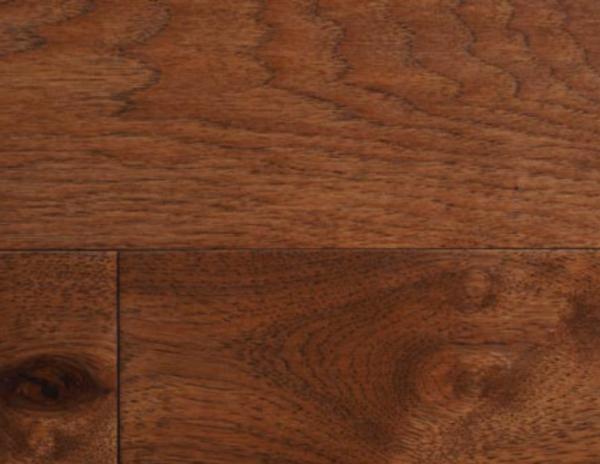 Saddle hickory wood flooring
