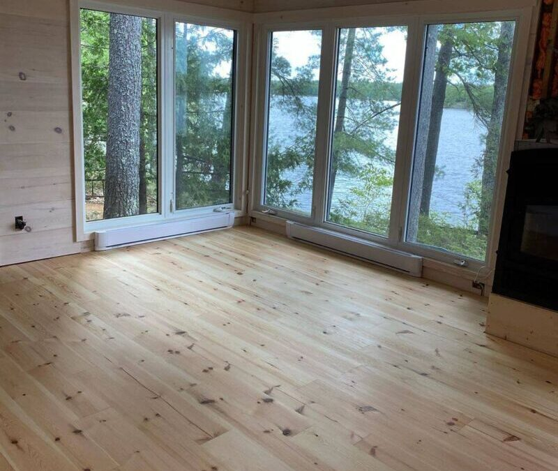 Logs End Flooring for Cottage Country Homes