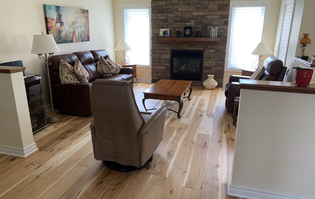 Almonte Renovation Features Logs End Hickory Flooring