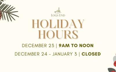Logs End Christmas Holiday Closure